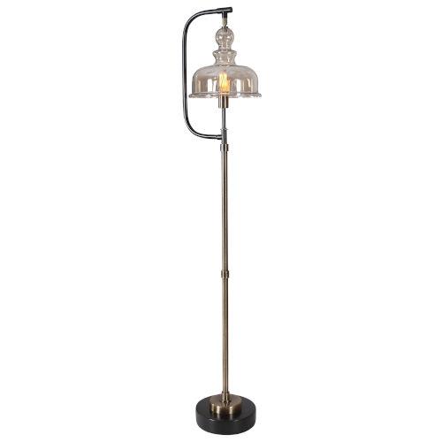 Elieser Antique Brushed Brass Floor Lamp