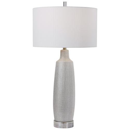 Kathleen Metallic Silver and Brushed Nickel Table Lamp