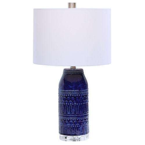Reverie Deep Blue Glaze One-Light Table Lamp