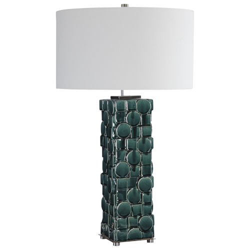 Geometry Green One-Light Table Lamp