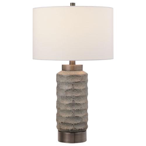 Masonry Black and Nickel One-Light Ceramic Table Lamp
