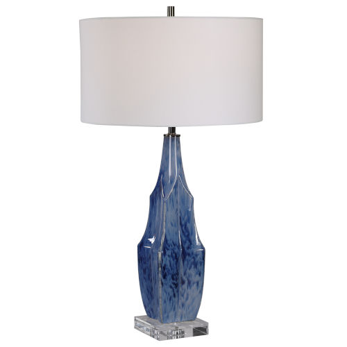 Everard Indigo Blue One-Light Table Lamp