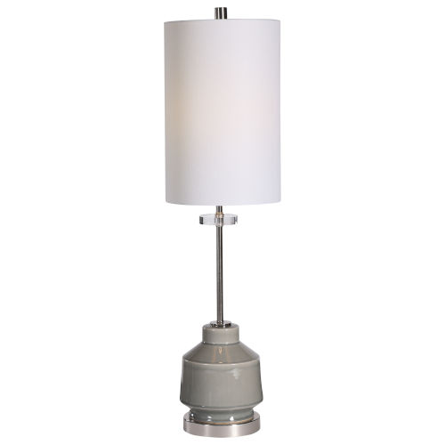 Porter Warm Gray One-Light Buffet Lamp