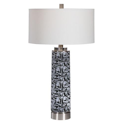 Kramer Gray and Black One-Light Table Lamp