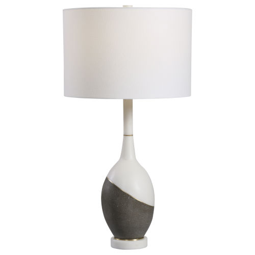 Tanali Charcoal and White One-Light Table Lamp