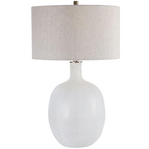 Whiteout Mottled White Table Lamp