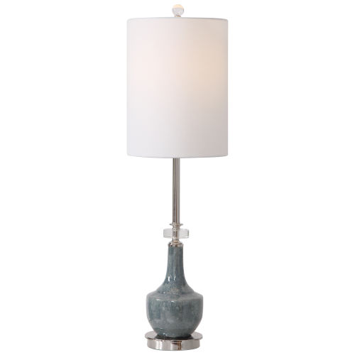 Piers Blue and Polished Nickel Table Lamp