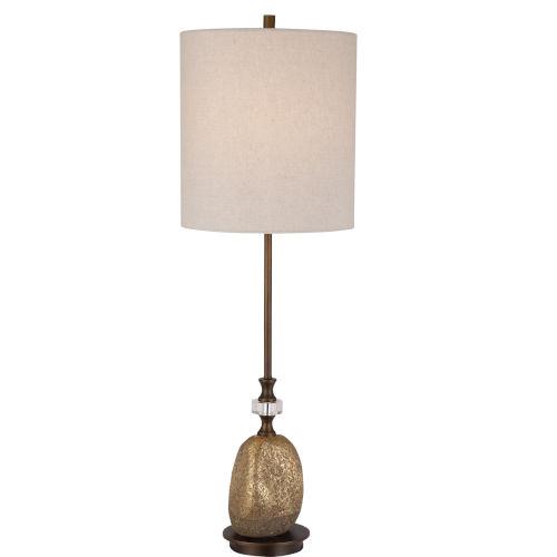 Aurum Dark Bronze and Gold One-Light Buffet Lamp