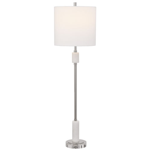 Sussex Polished Nickel One-Light Buffet Lamp