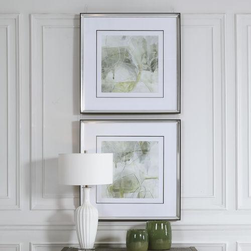Terra Forma Matte Black Framed Modern Prints, Set of 2