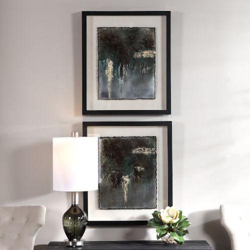 Rustic Patina Framed Print, Set of 2
