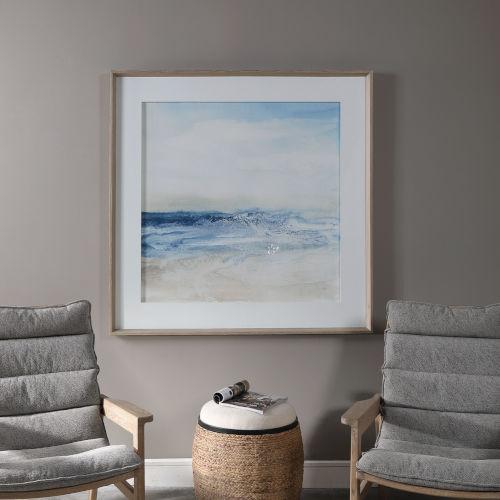 Surf and Sand Multicolor Framed Print