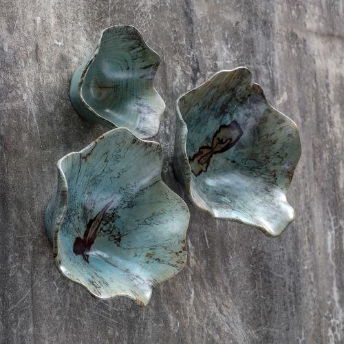 Teo Caribbean Blue Wood Wall Art