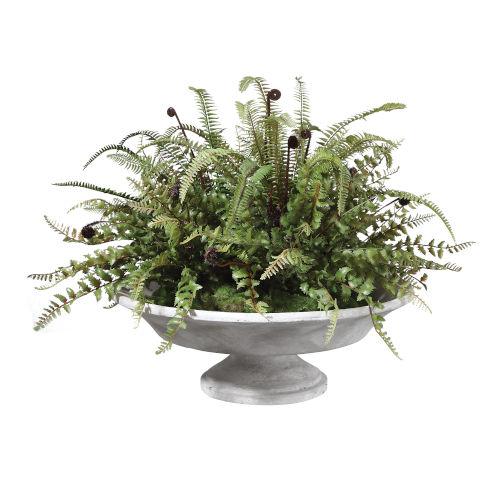 Mabry Natural Green Lush Fern Centerpiece