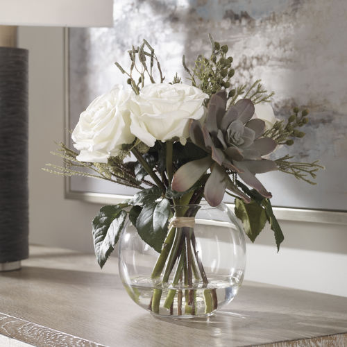 Belmonte Multicolor Floral Bouquet and Vase