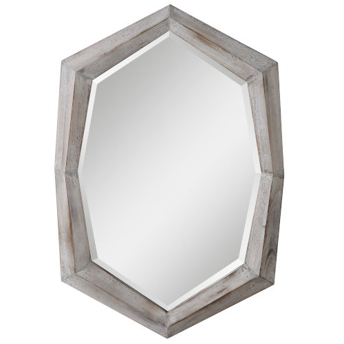 Turano Ivory and Gray Mirror