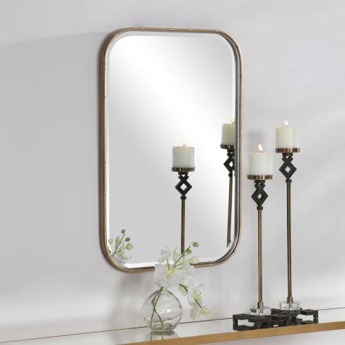 Malay  Antique Gold Leaf Vanity Mirror