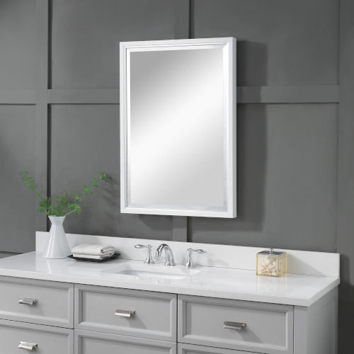 Barnaby Silver and White Vanity Mirror