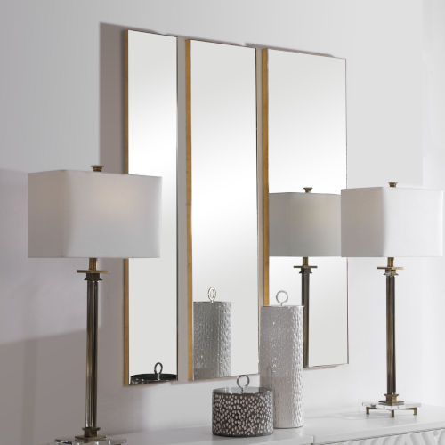 Uttermost Rowling Gold Leaf Mirrors Set Of 3 09631 Bellacor