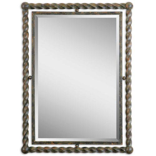 Garrick Wrought Iron 35-Inch Mirror
