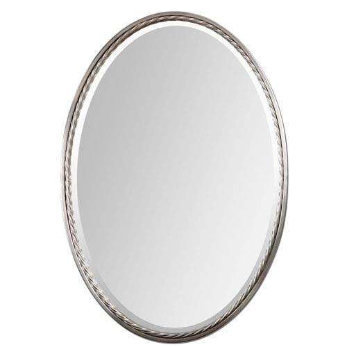 Uttermost Casalina Brushed Nickel Oval Mirror