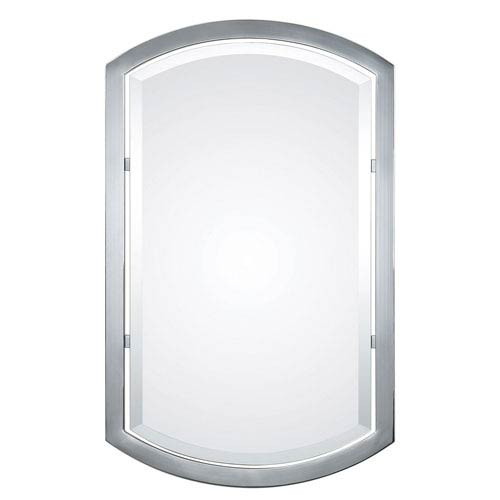 Jacklyn Polished Chrome 37-Inch Beveled Mirror