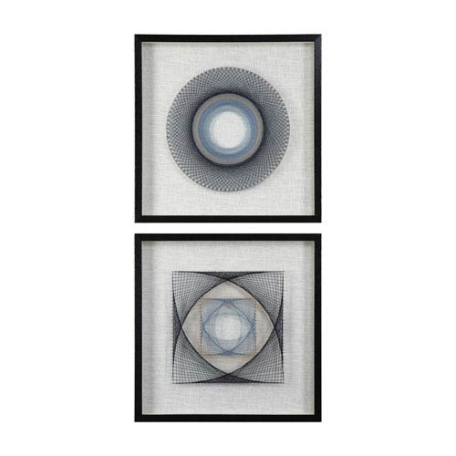 String Duet Geometric Art, Set of Two