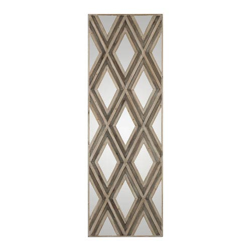 Tahira Rectangular Geometric Argyle Pattern Wall Mirror