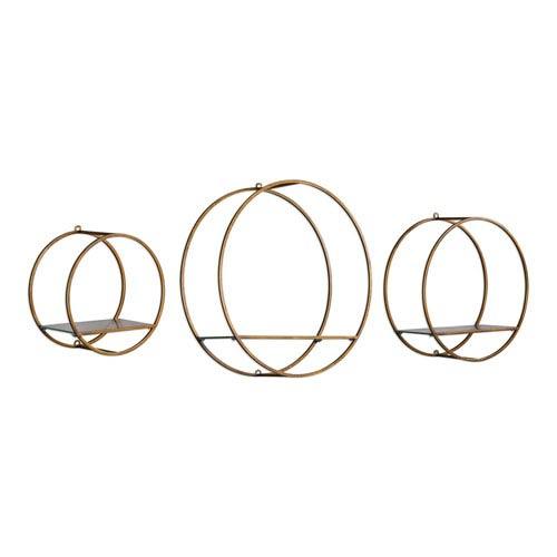Ellison Drum Cage Shelves, Set of Three