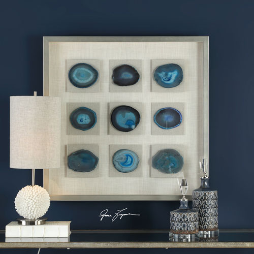 Cerulean Blue Stone Shadow Box