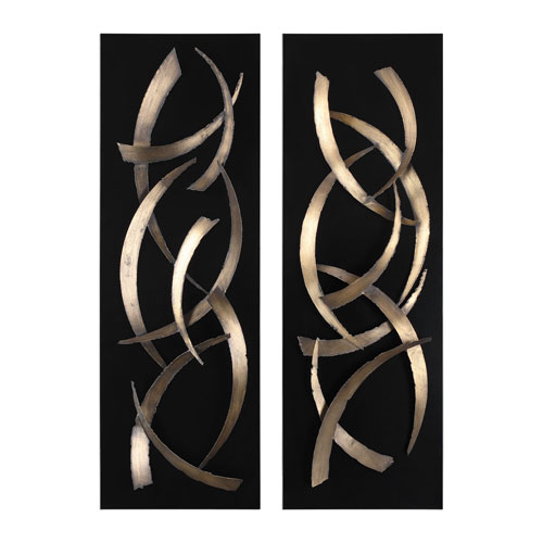 Uttermost Brushstrokes Metal Wall Art, Set Of 2 04139 | Bellacor