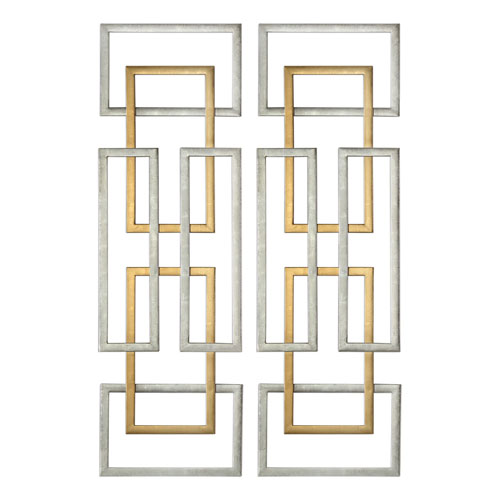 Aerin Geometric Wall Art, Set of 2