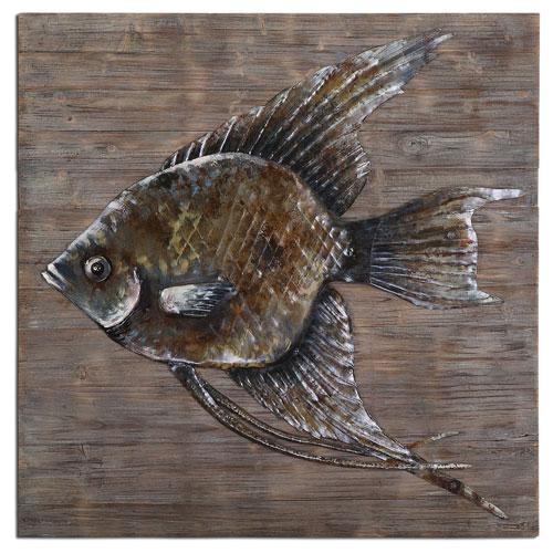 Uttermost Iron Fish 40-Inch Alternative Wall Decor