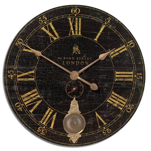 Bond Street 30 Inch Black Clock