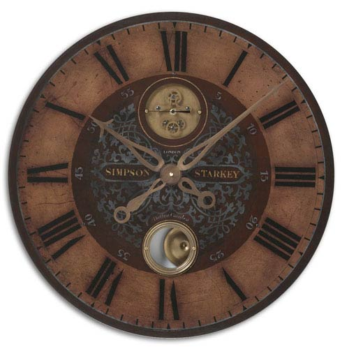 Simpson Starkey Brass Clock
