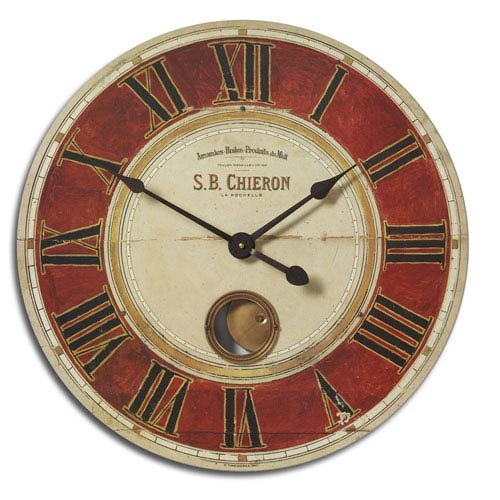 S.B. Chieron 23 Inch Brass Clock