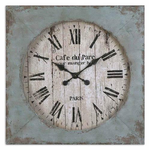Uttermost Distressed Aged Blue Paron Clock