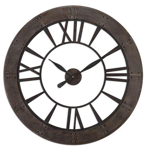 Ronan Dark Rustic Bronze Wall Clock