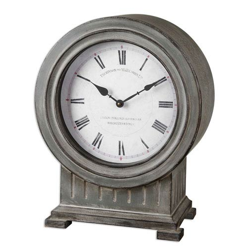Chouteau Dusty Gray Mantel Clock
