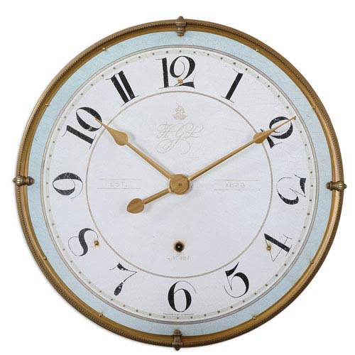 Torriana Antique Gold Wall Clock