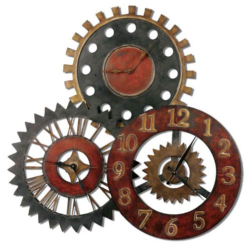 Uttermost Rusty Movements Metal Clock