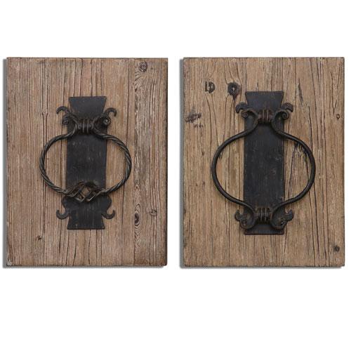Rustic Door Knockers Rustic Bronze Alternative Wall Decor, Set of 2
