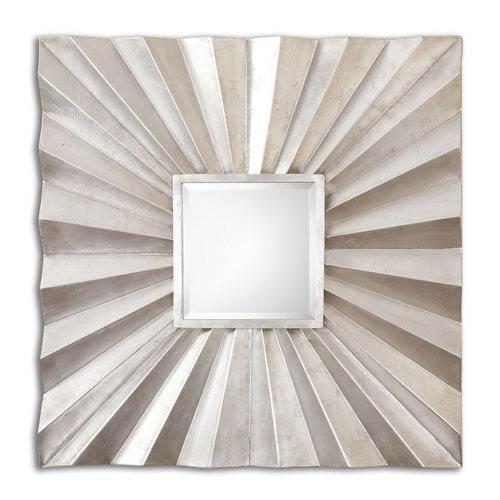 Adelmar Antiqued Silver Leaf Square Mirror