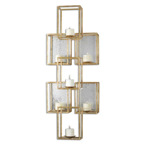 Ronana Gold Mirrored Wall Sconce