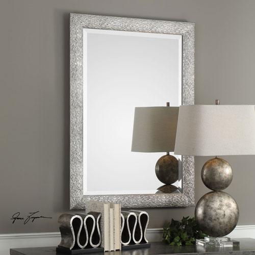 Mossley Metallic Silver Mirror