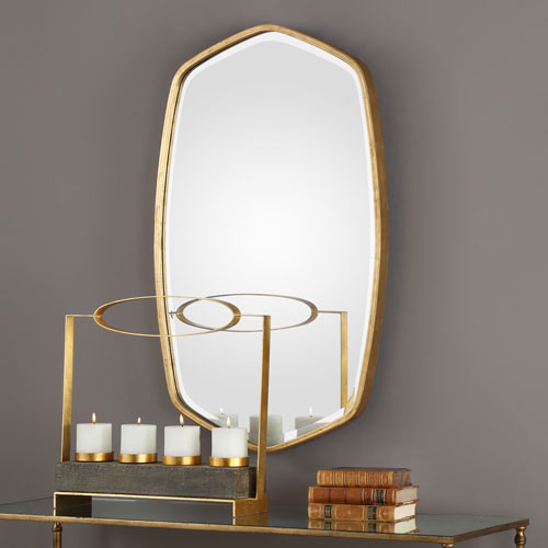 Duronia Antiqued Gold Mirror