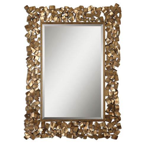 Uttermost Capulin Antique Gold Metal Strip Mirror