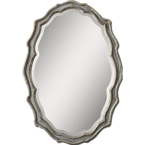 Aged Slate Blue Dorgali Mirror