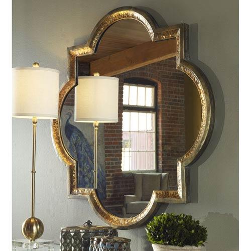 Lourosa Antique Gold 39.75-Inch Mirror