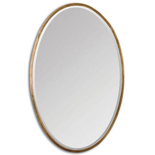 Herleva Oval Antique Gold Oval Mirror